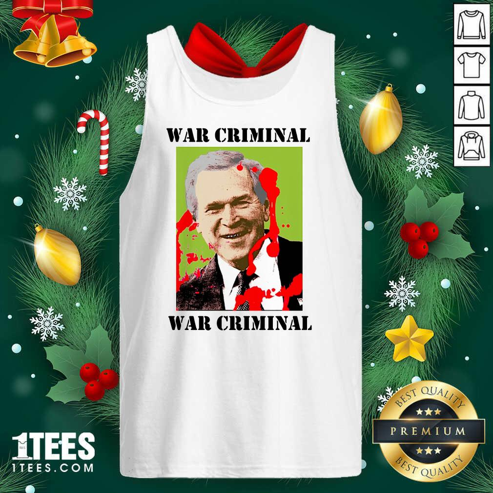 Maradona Protesting A Visit By George Bush War Criminal Tank Top- Design By 1Tees.com