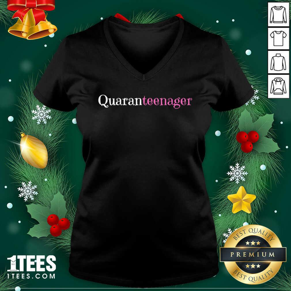 Quaranteen 13th Birthday A Teenager V-neck- Design By 1Tees.com