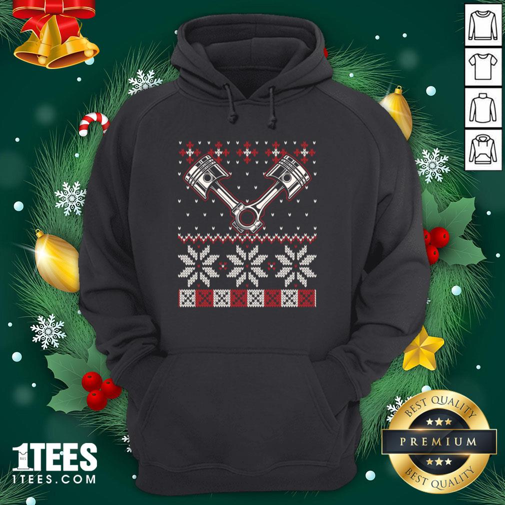 Official Automobile Piston Ugly Christmas Sweater Auto Car Mechanic Hoodie - Design By Thelasttees.com