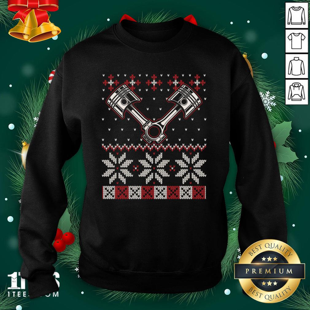 Official Automobile Piston Ugly Christmas Sweater Auto Car Mechanic Sweatshirt - Design By Thelasttees.com