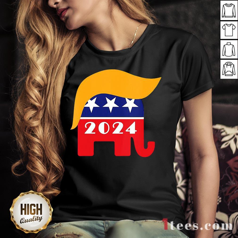 Official President Trump 2024 Republican Elephant Hair Logo Shirt Official President Trump 2024 Republican Elephant Hair Logo Shirt