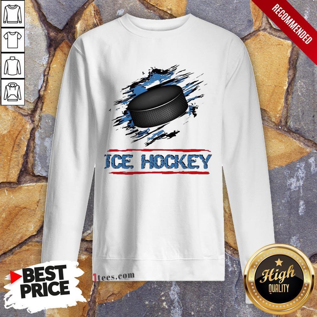 Perfect Ice Hockey Sweatshirt Design By T-shirtbear.com