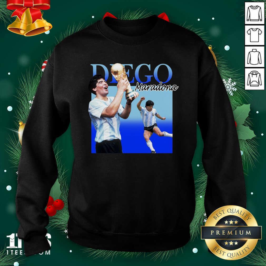 Diego Armando Maradona Soccer World Cup Sweatshirt- Design By 1Tees.com