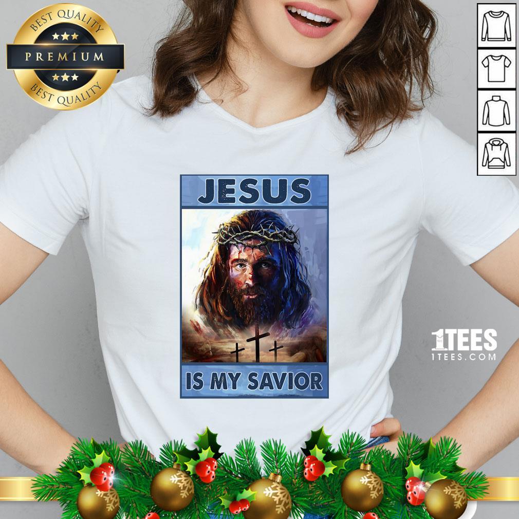 Premium Jesus Is My Savior V-neck - Design By 1tee.com