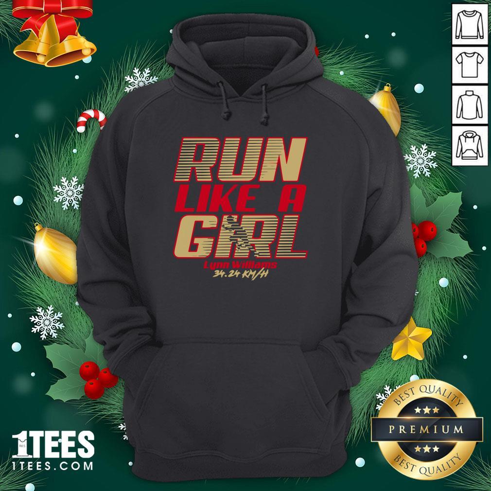 Premium Run Like A Girl Lynn Williams Hoodie - Design By 1tee.com