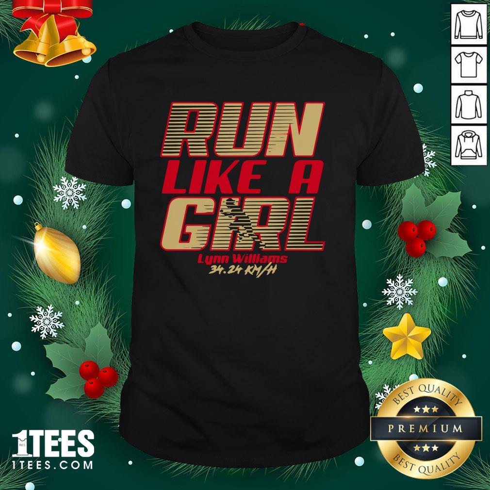 Premium Run Like A Girl Lynn Williams Shirt - Design By 1tee.com