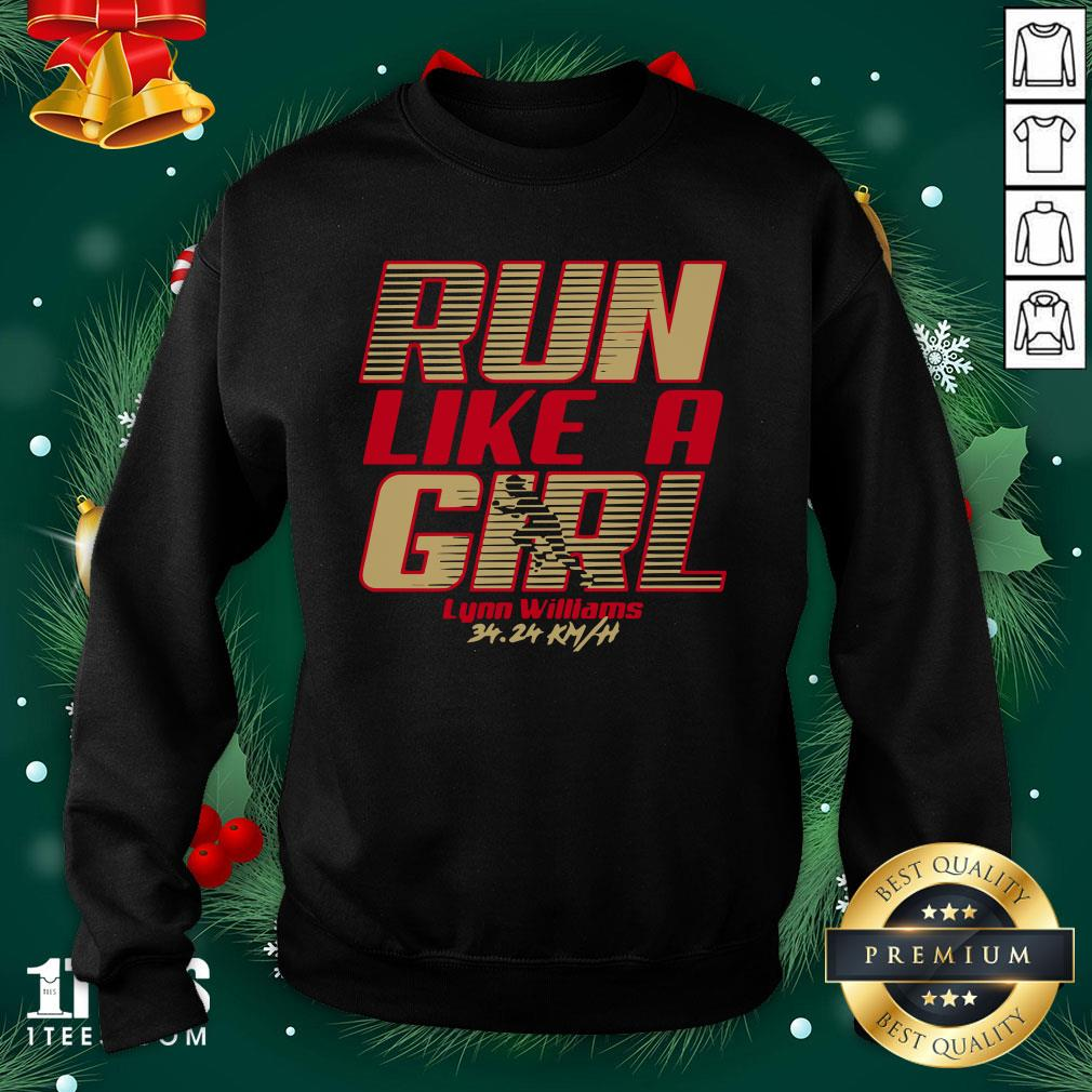 Premium Run Like A Girl Lynn Williams Sweatshirt - Design By 1tee.com