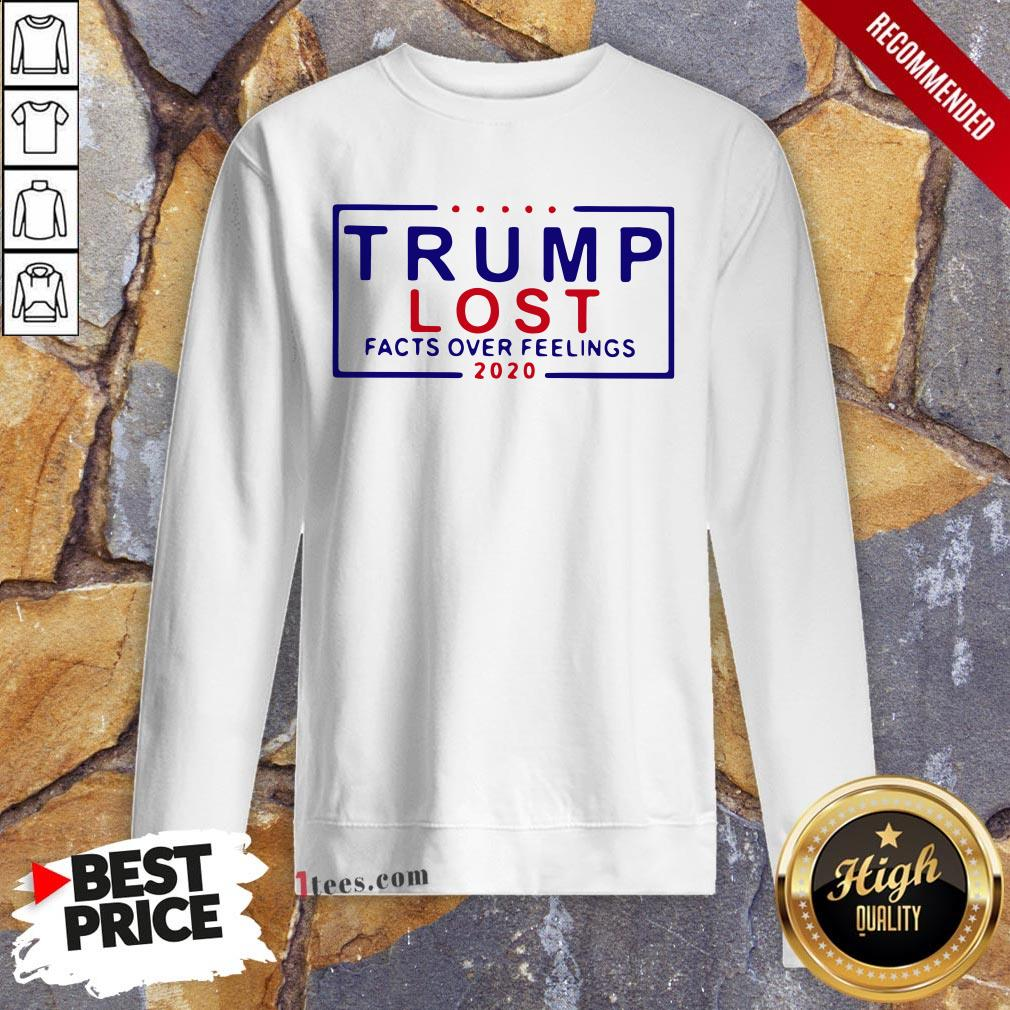 Premium Trump Lost Facts Over Feelings 2020 Sweatshirt Design By T-shirtbear.com