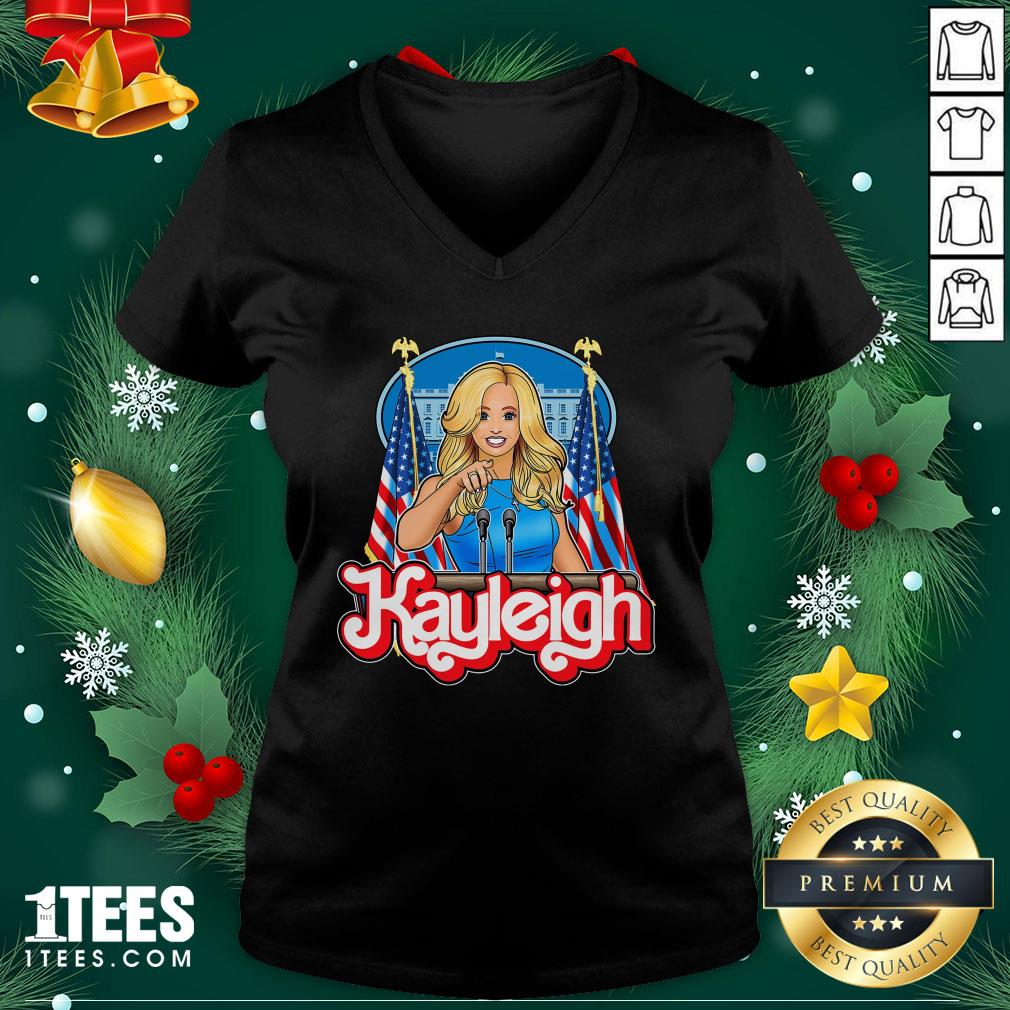 Pretty Kayleigh Barbie V-neck - Design By 1tee.com