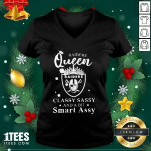 Pretty Raiders Queen Raiders Classy Sassy And A Bit Smart Assy V-neck - Design By 1tee.com