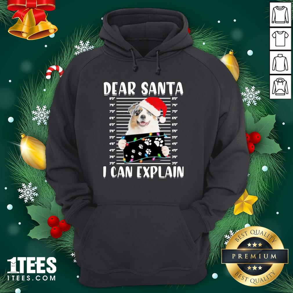 Pro Australian Shepherd Dear Santa I Can Explain Christmas Sweater Hoodie - Design By 1tee.com