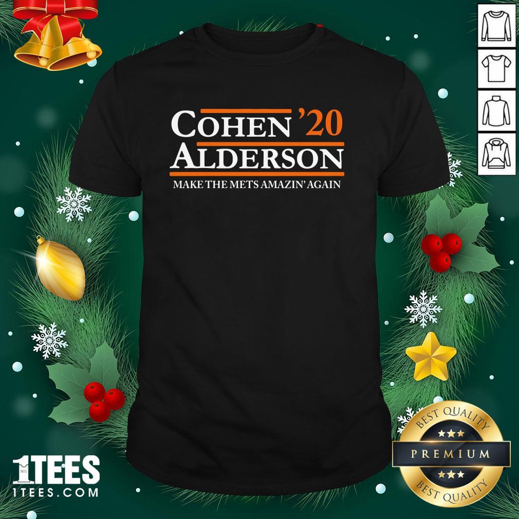 Top Cohen Alderson 2020 Make The Mets Amazin' Again Shirt - Design By 1tee.com