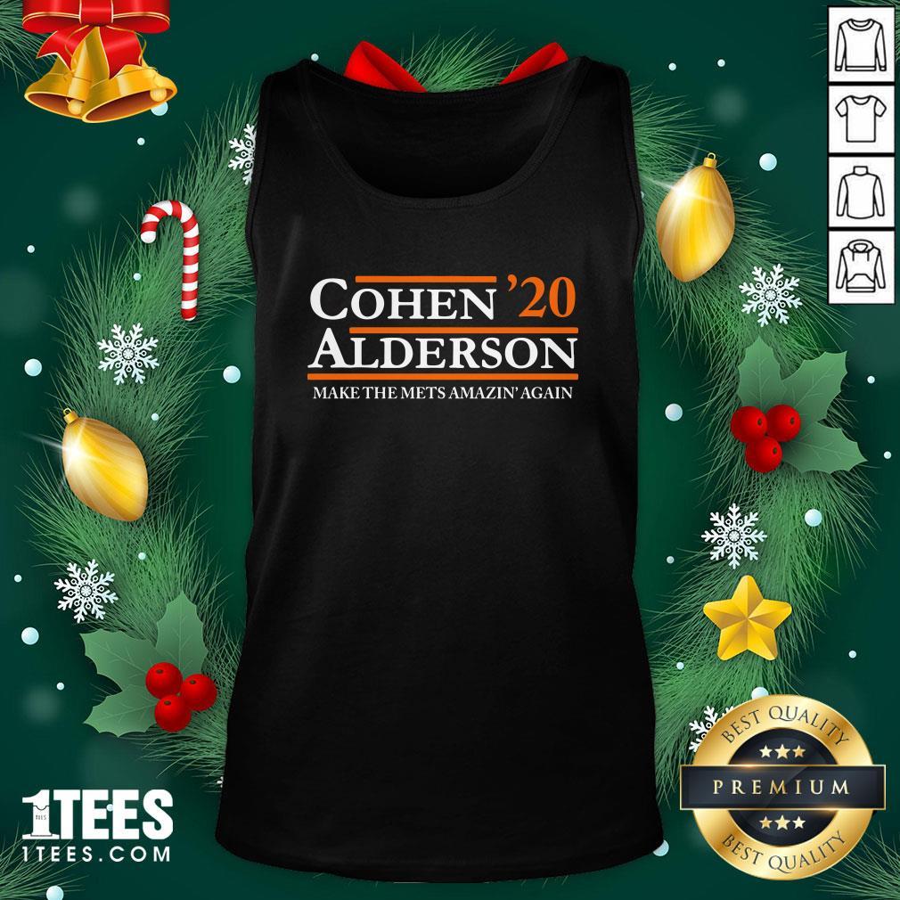 Top Cohen Alderson 2020 Make The Mets Amazin' Again Tank Top - Design By 1tee.com
