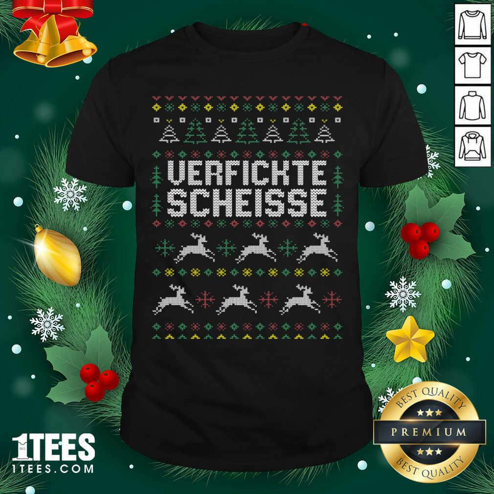 Verfickte Scheisse Ugly Merry Christmas Shirt - Design By 1tees.com