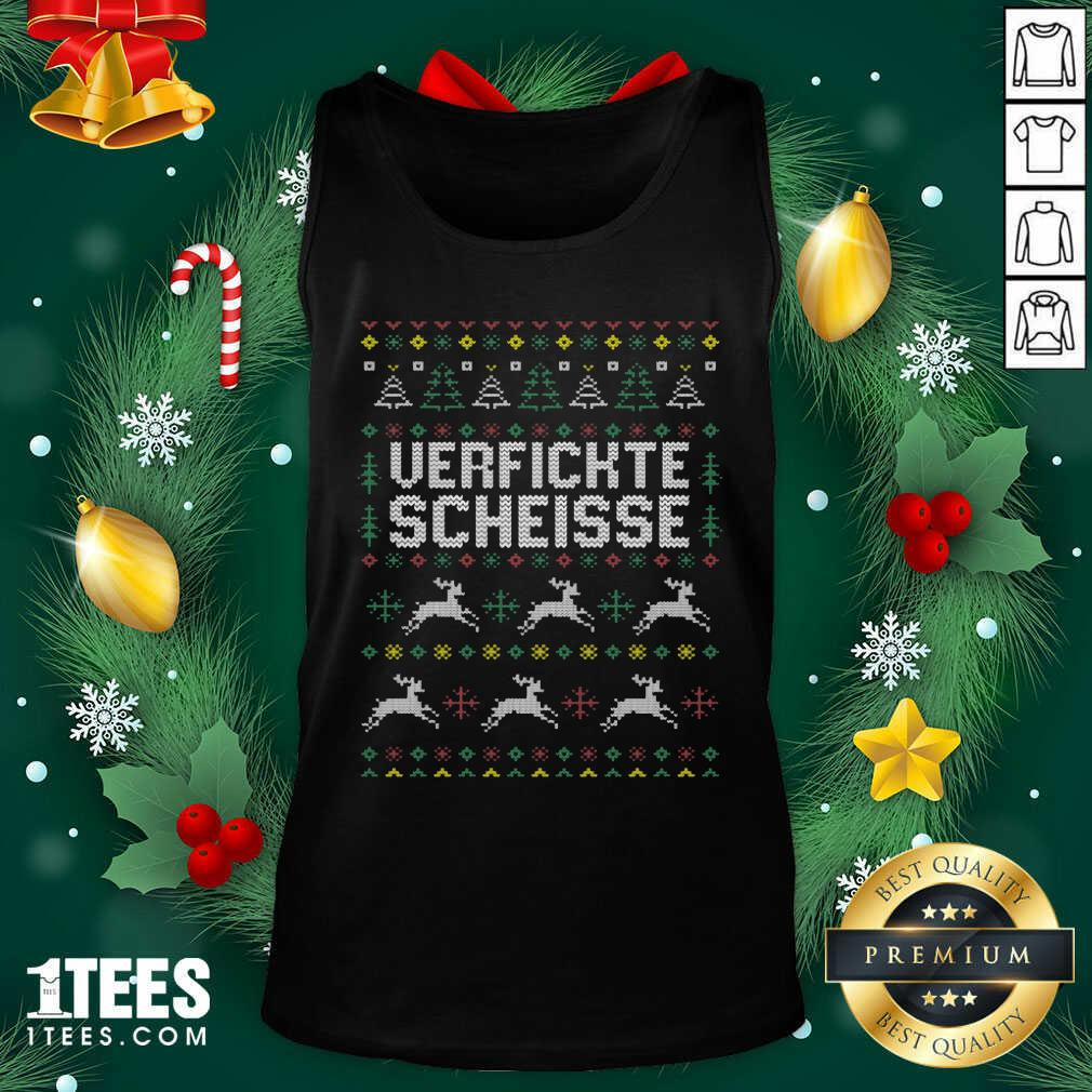 Verfickte Scheisse Ugly Merry Christmas Tank Top - Design By 1tees.com