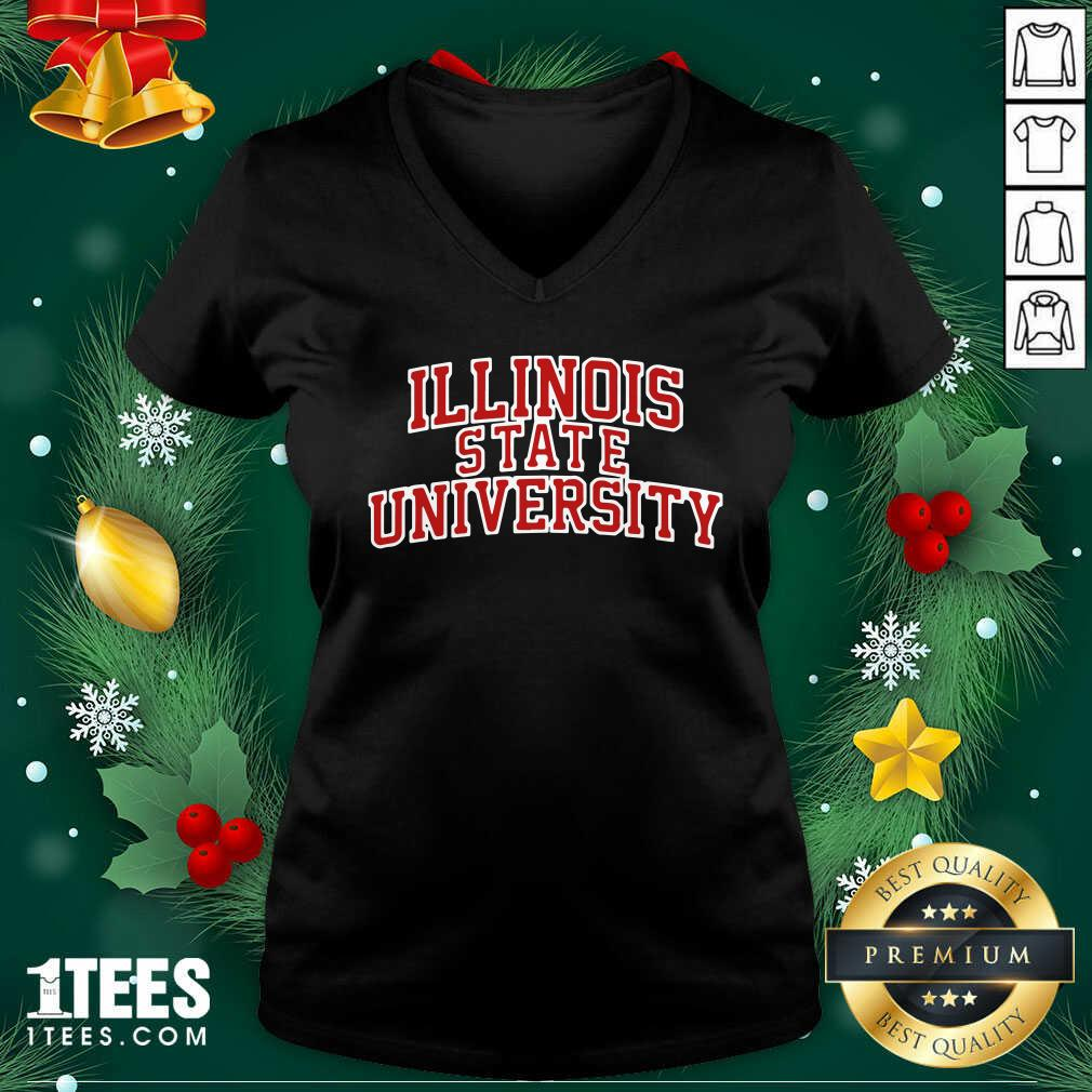 Illinois State University Red V-neck- Design By 1tees.com