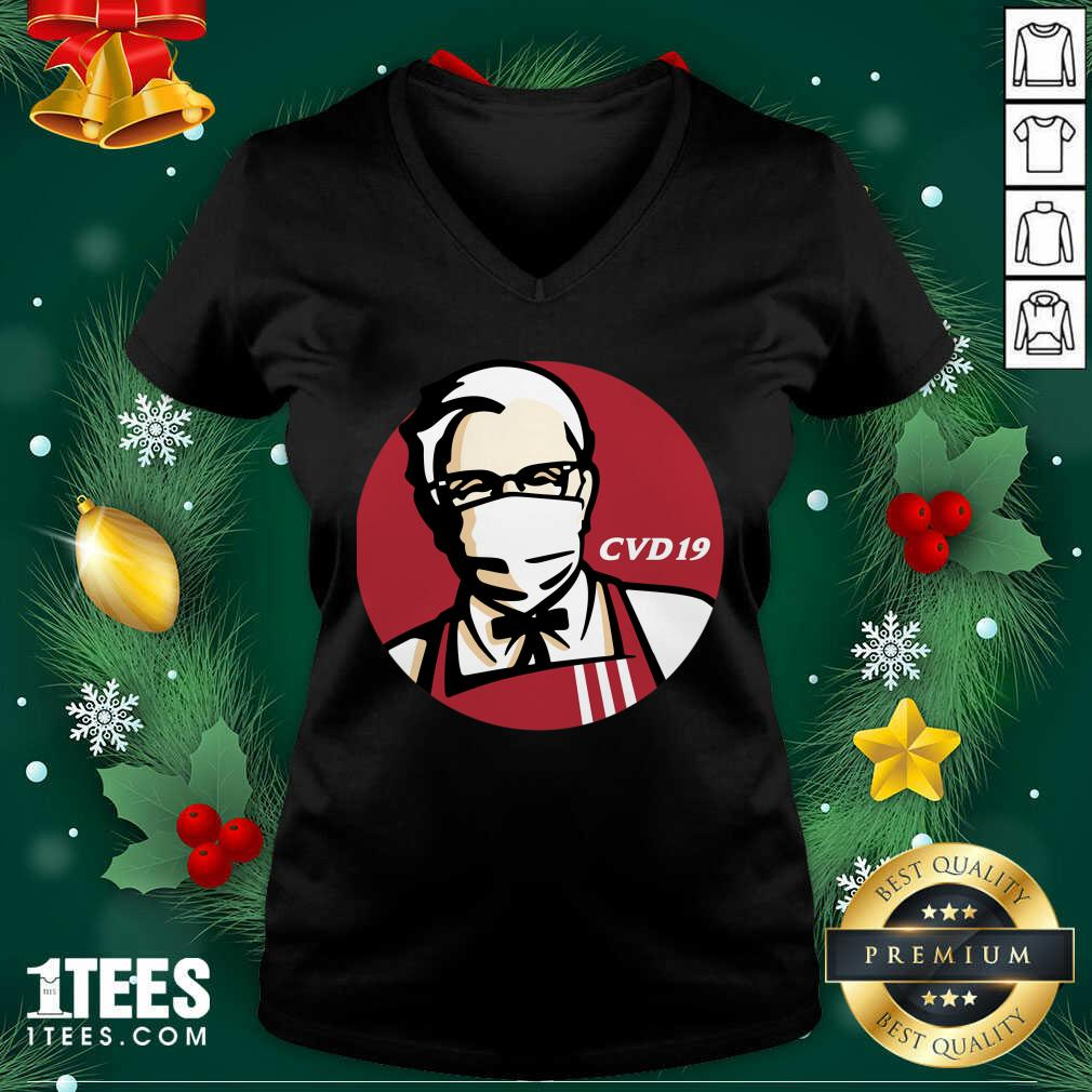 KFC Cvd 19 V-neck- Design By 1tees.com