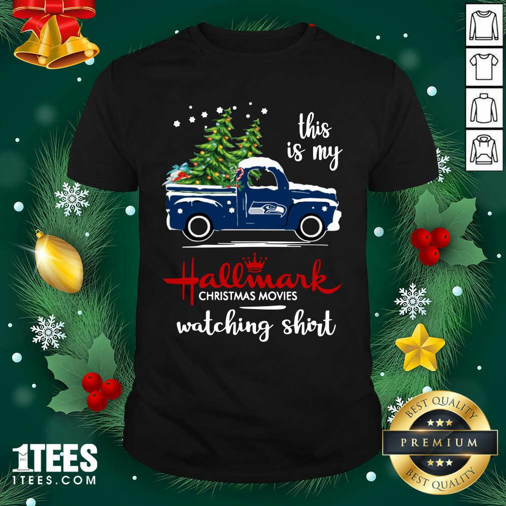 Seattle Seahawks This Is My Hallmark Christmas Movies Watching Shirt- Design By 1Tees.com