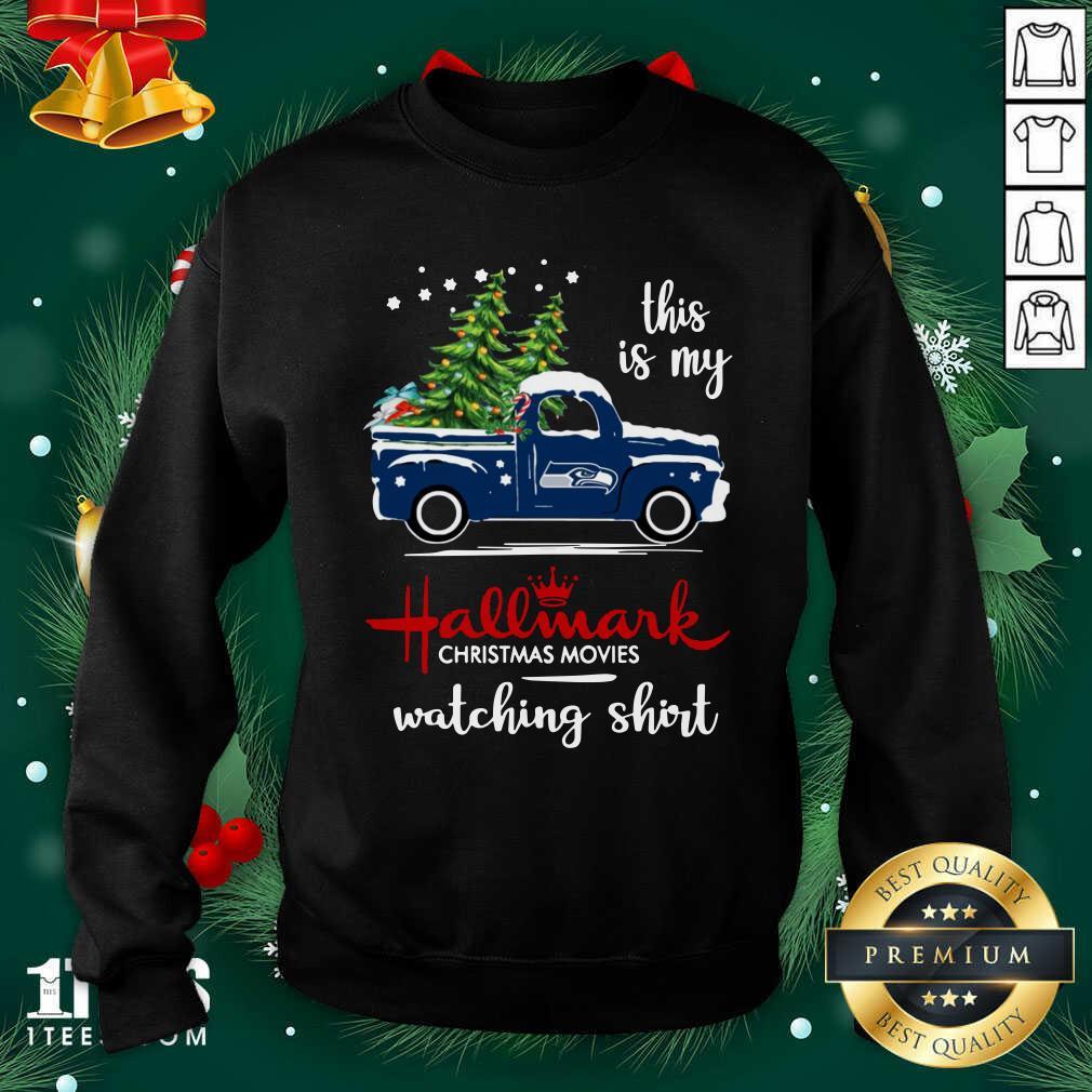 Seattle Seahawks This Is My Hallmark Christmas Movies Watching Sweatshirt- Design By 1Tees.com