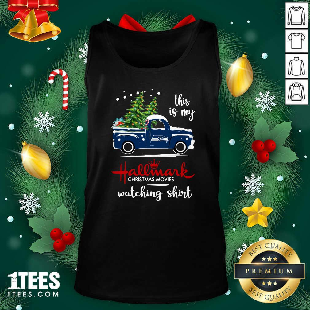 Seattle Seahawks This Is My Hallmark Christmas Movies Watching Tank Top- Design By 1Tees.com