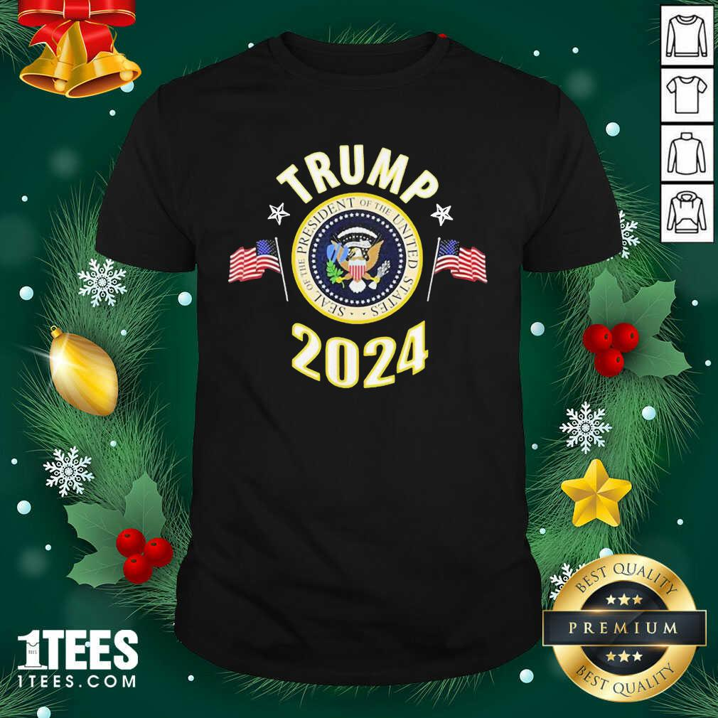 Trump 2024 Presidential Seal Flag Us Shirt- Design By 1Tees.com
