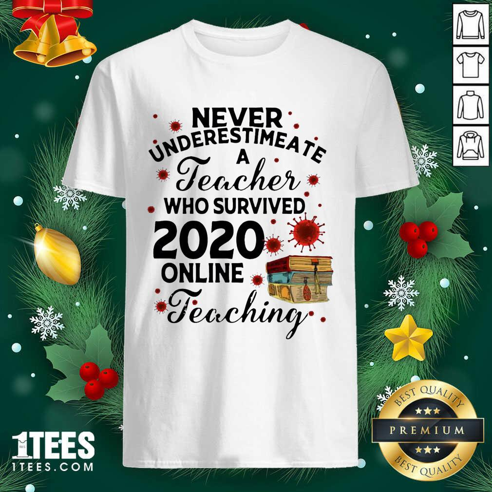 Never Underestimate A Teacher Who Survived 2020 Online Teaching Shirt- Design By 1Tees.com