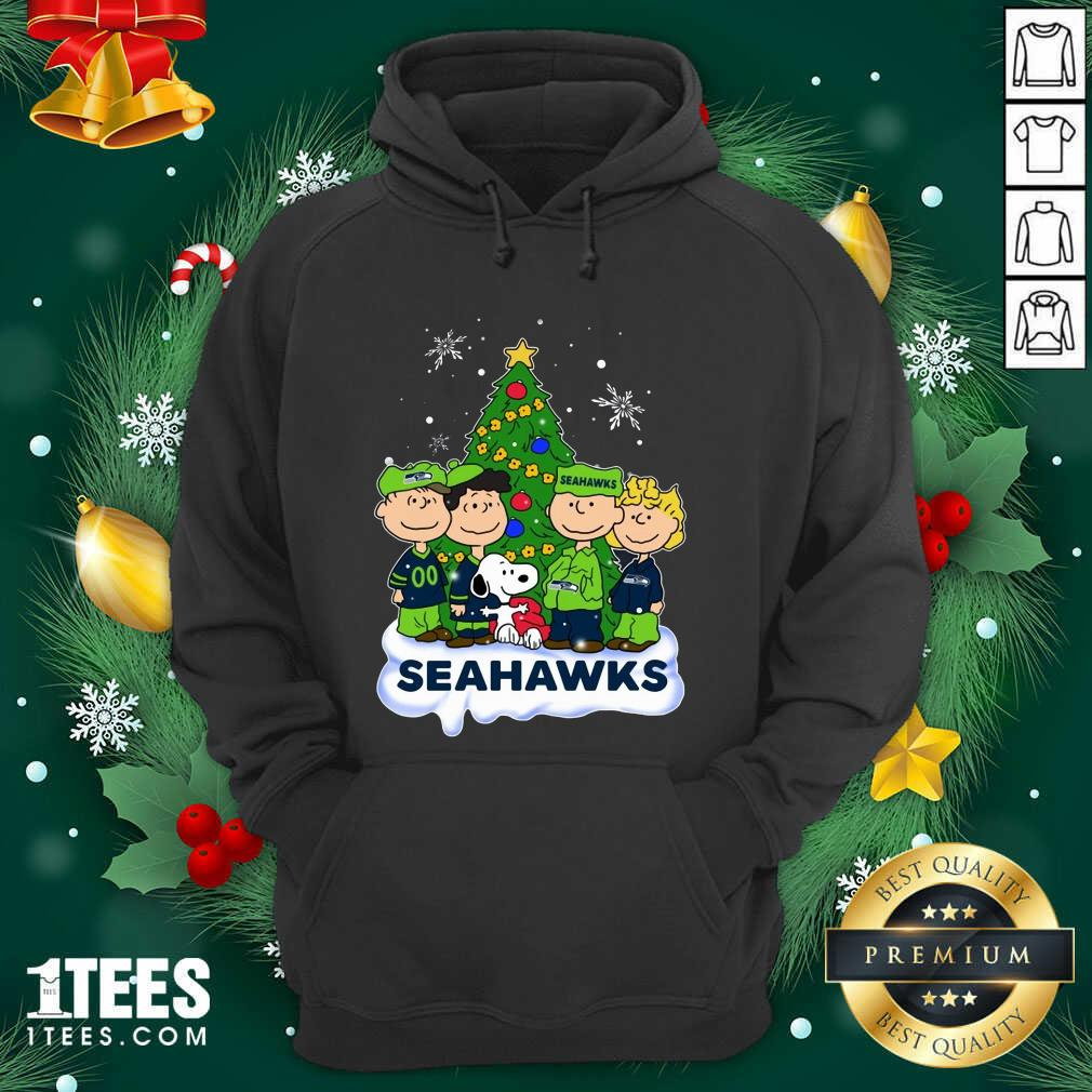 Snoopy The Peanuts Seattle Seahawks Christmas Hoodie- Design By 1Tees.com