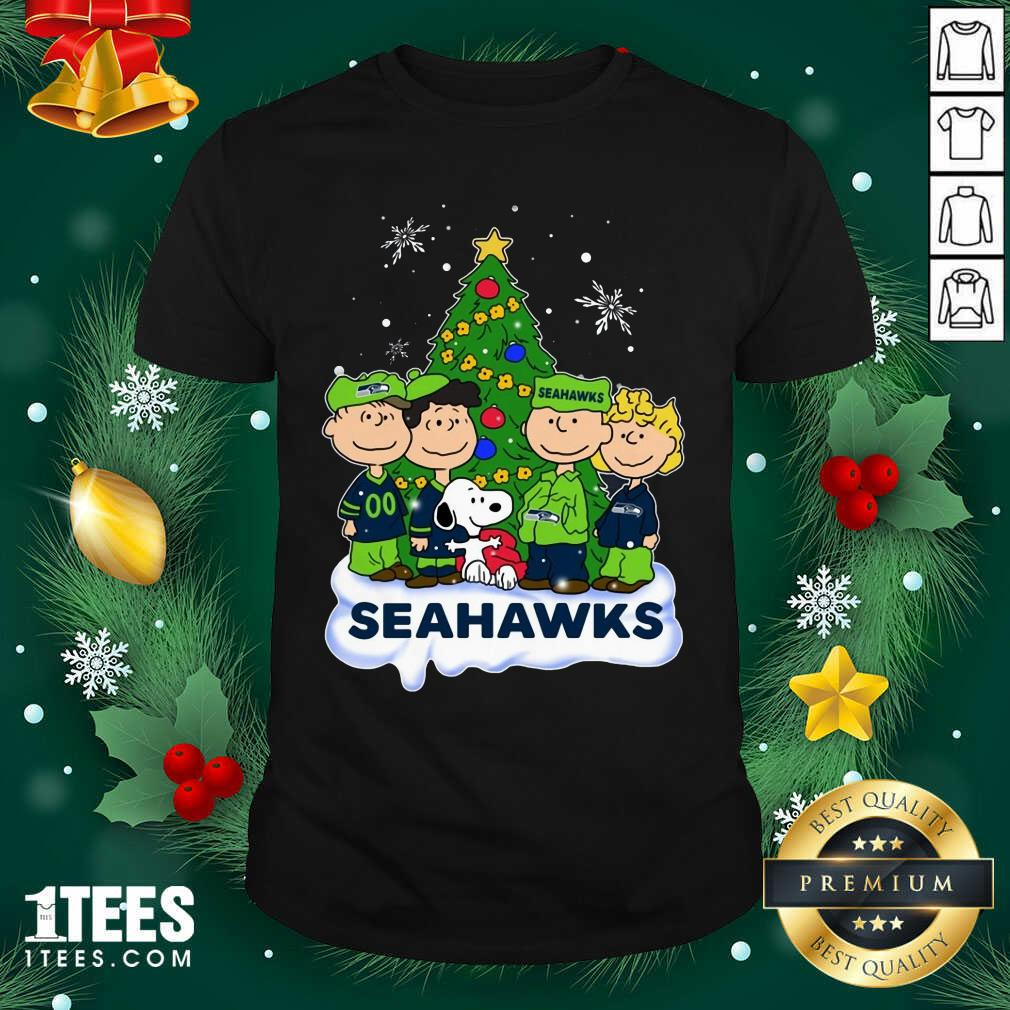 Snoopy The Peanuts Seattle Seahawks Christmas Shirt- Design By 1Tees.com