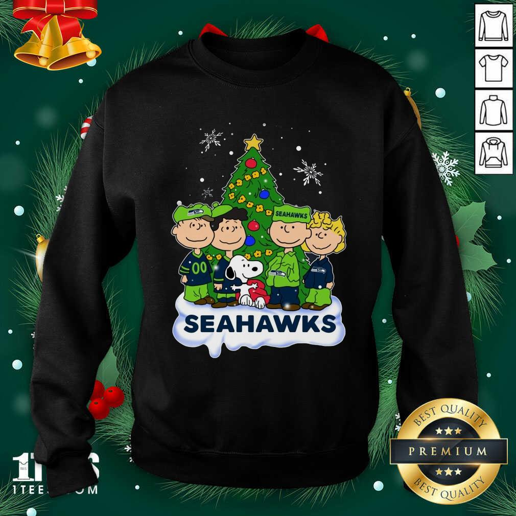 Snoopy The Peanuts Seattle Seahawks Christmas Sweatshirt- Design By 1Tees.com