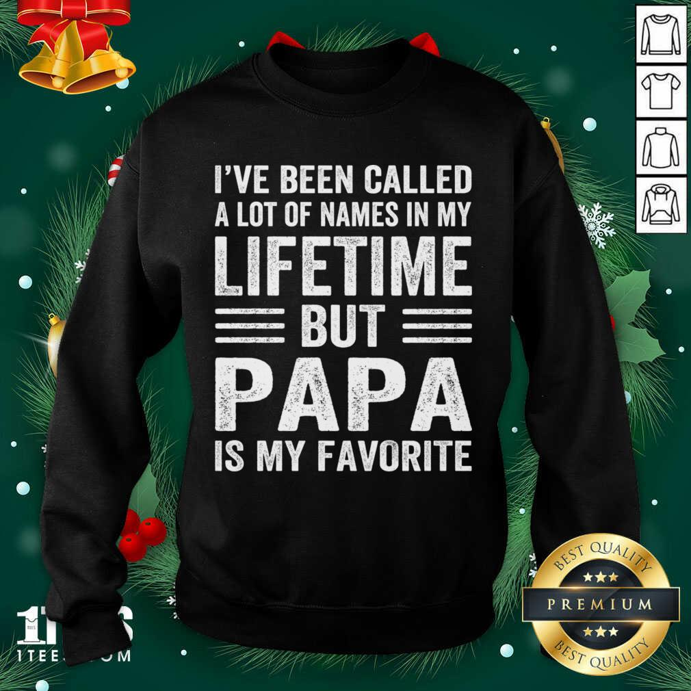 I've Been Called A Lot Of Names In My Lifetime But Papa Is My Favorite Sweatshirt- Design By 1tees.com