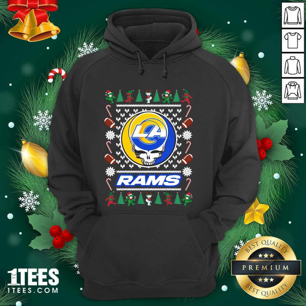 Los Angeles Rams Grateful Dead Ugly Christmas Hoodie- Design By 1tees.com
