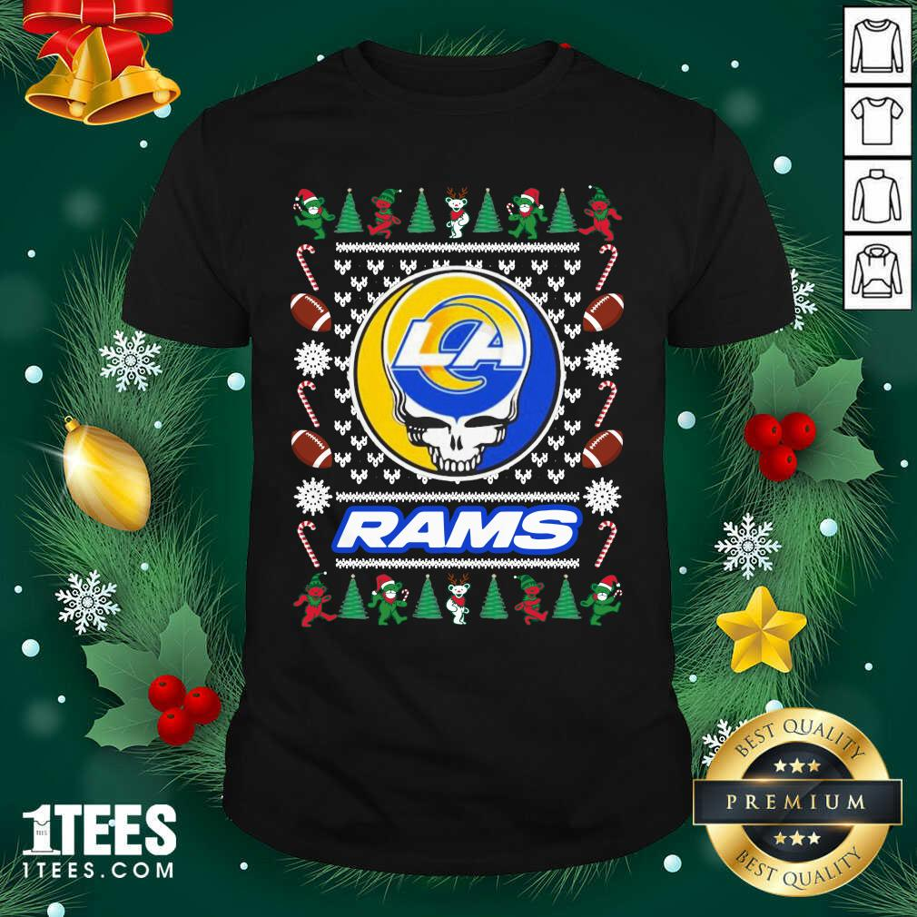 Los Angeles Rams Grateful Dead Ugly Christmas Shirt- Design By 1tees.com