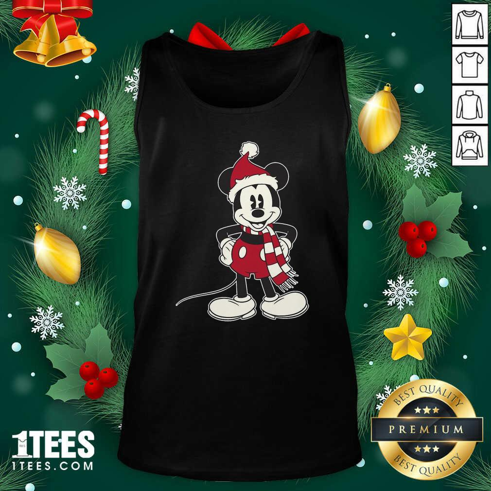 Mickey Mouse Santa Hat Merry Christmas Tank Top- Design By 1Tees.com