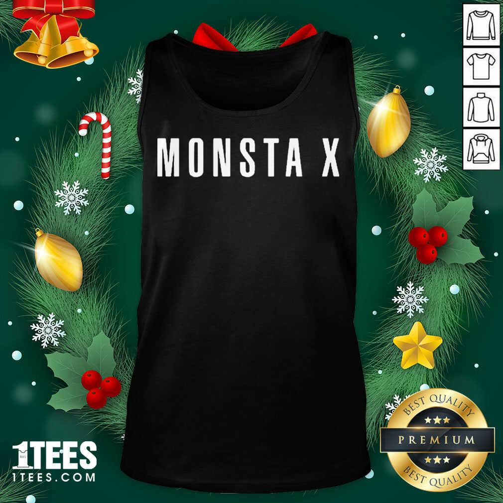 Monsta X Merch Monsta X Llogo Tank Top- Design By 1Tees.com