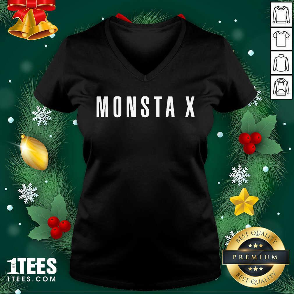 Monsta X Merch Monsta X Llogo V-neck- Design By 1tees.com
