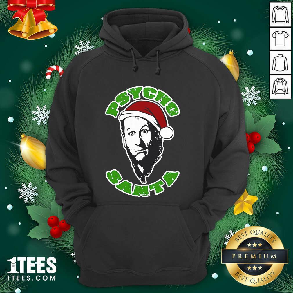 Psycho Santa Christmas Hoodie- Design By 1Tees.com