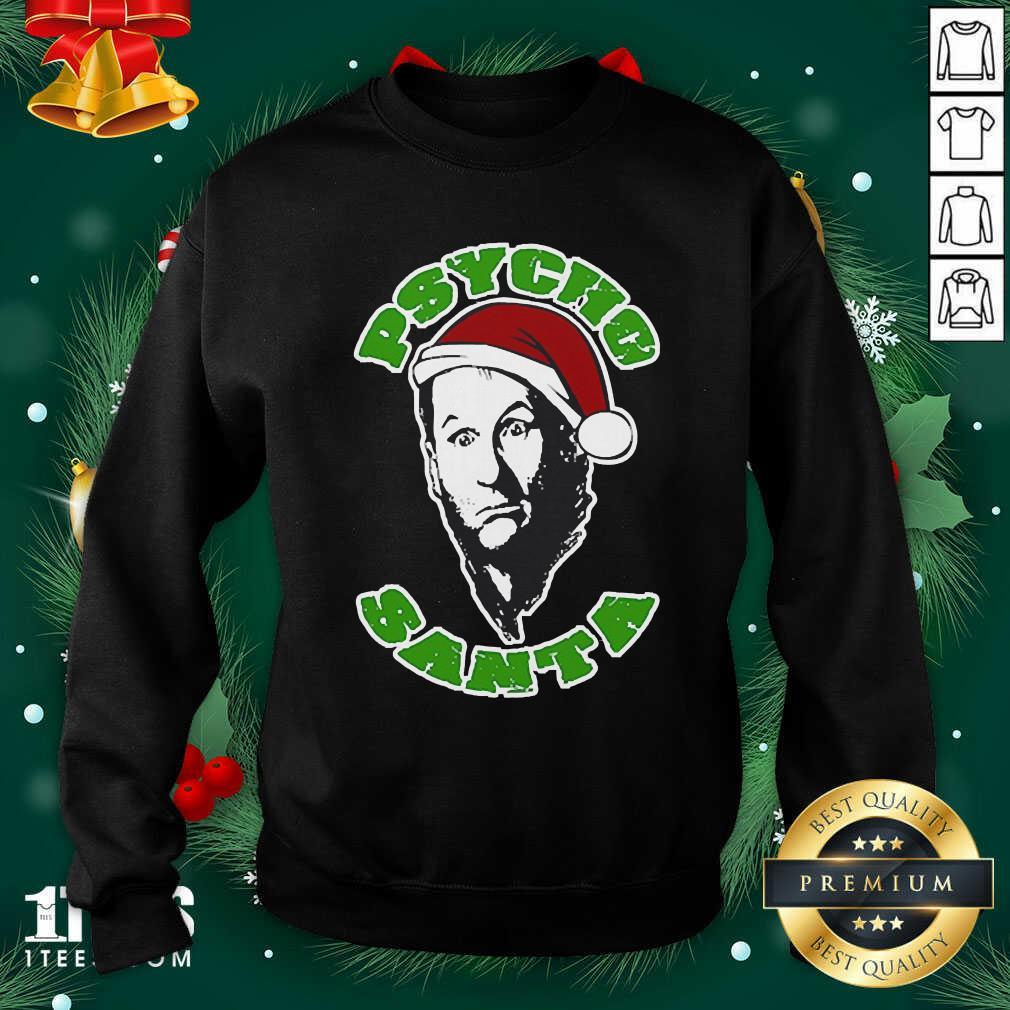 Psycho Santa Christmas Sweatshirt- Design By 1Tees.com