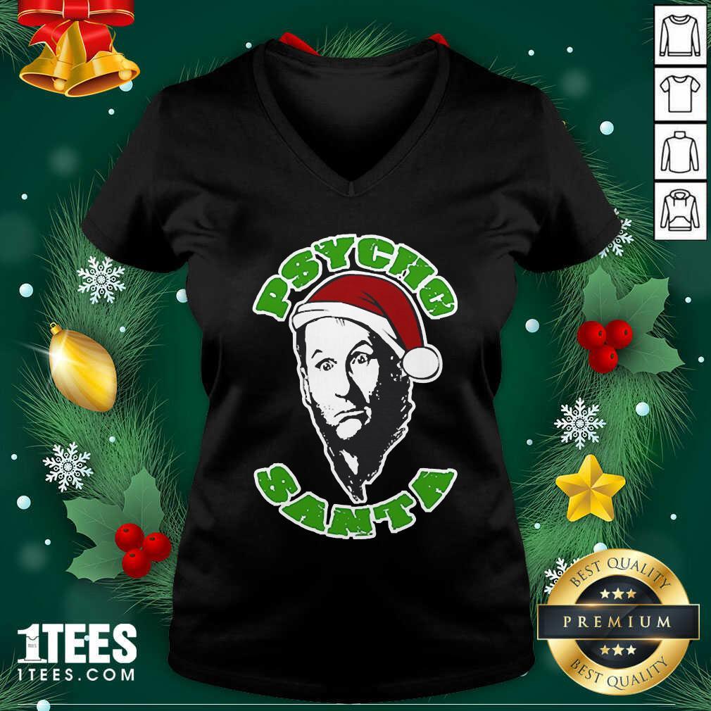 Psycho Santa Christmas V-neck- Design By 1Tees.com