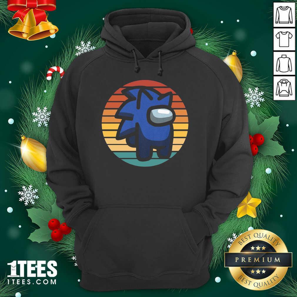 Retro Among Us Sonic Im A Impostor Vintage Hoodie- Design By 1Tees.com