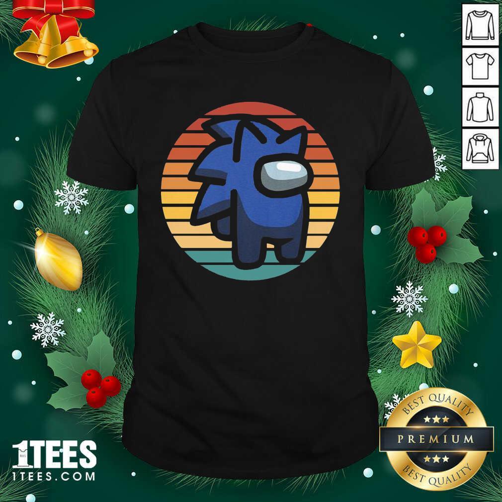 Retro Among Us Sonic Im A Impostor Vintage Shirt- Design By 1Tees.com