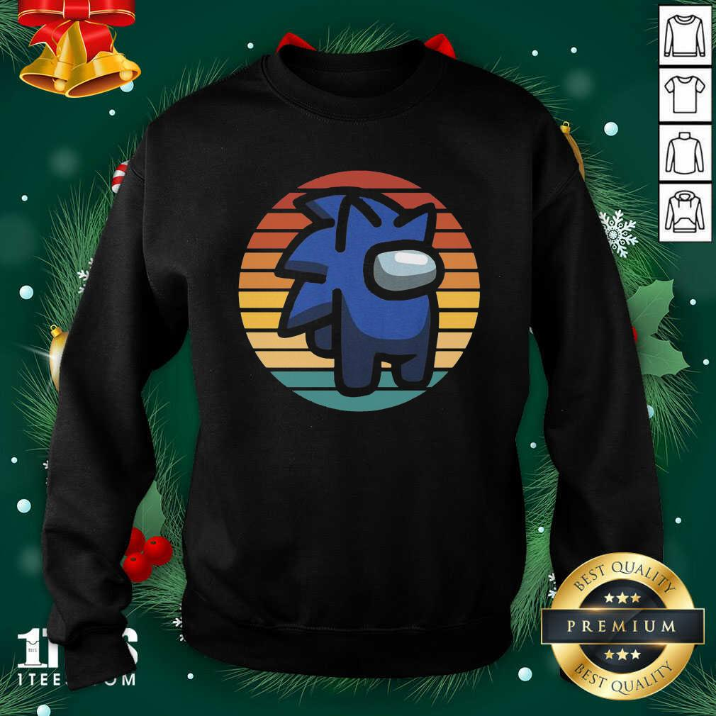 Retro Among Us Sonic Im A Impostor Vintage Sweatshirt- Design By 1Tees.com