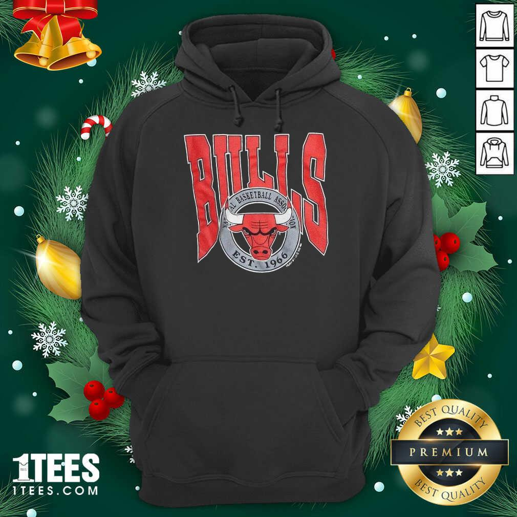 1990 Chicago Bulls Vintage Trench Basketball Est 1966 Hoodie- Design By 1Tees.com