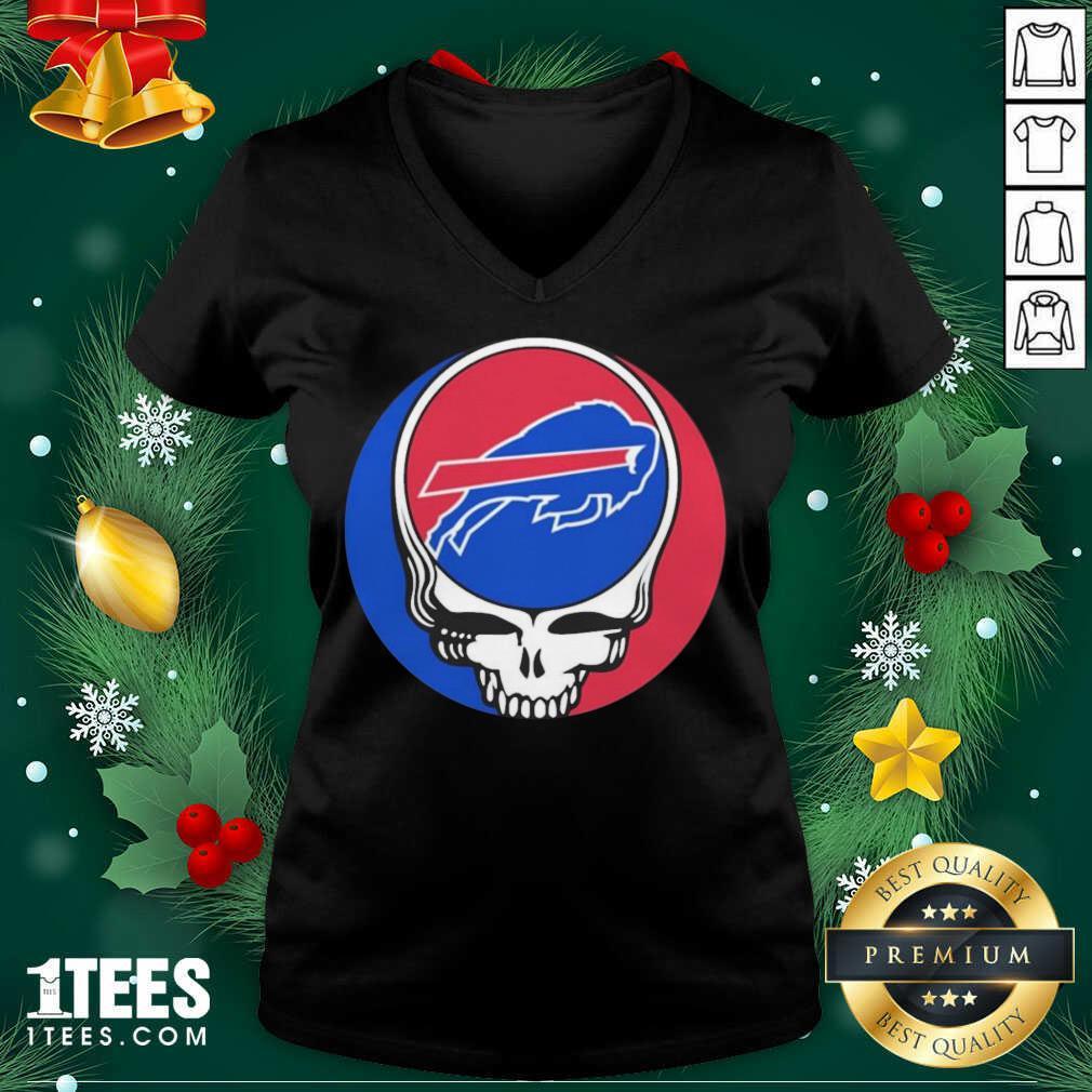 Grateful Dead Buffalo Bills V-neck- Design By 1tees.com