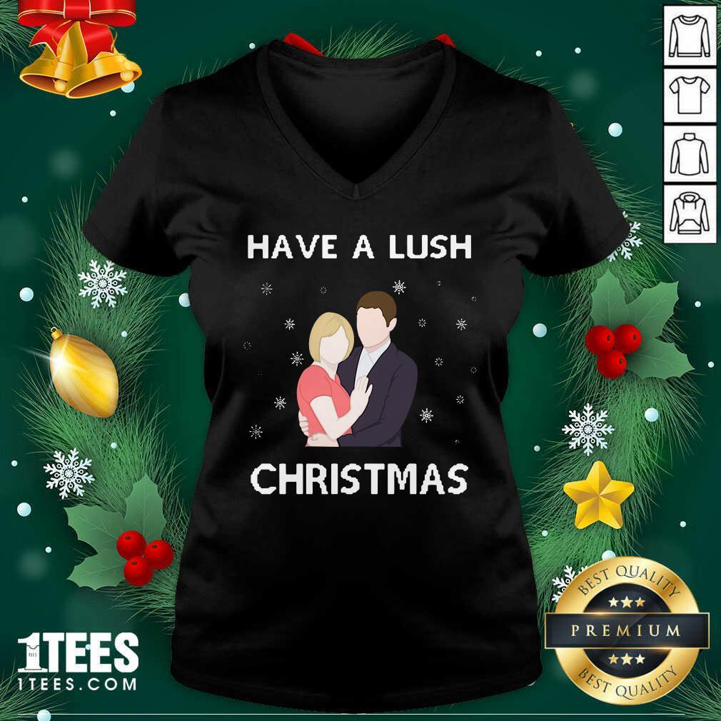 Have A Lush Christmas V-neck- Design By 1Tees.com