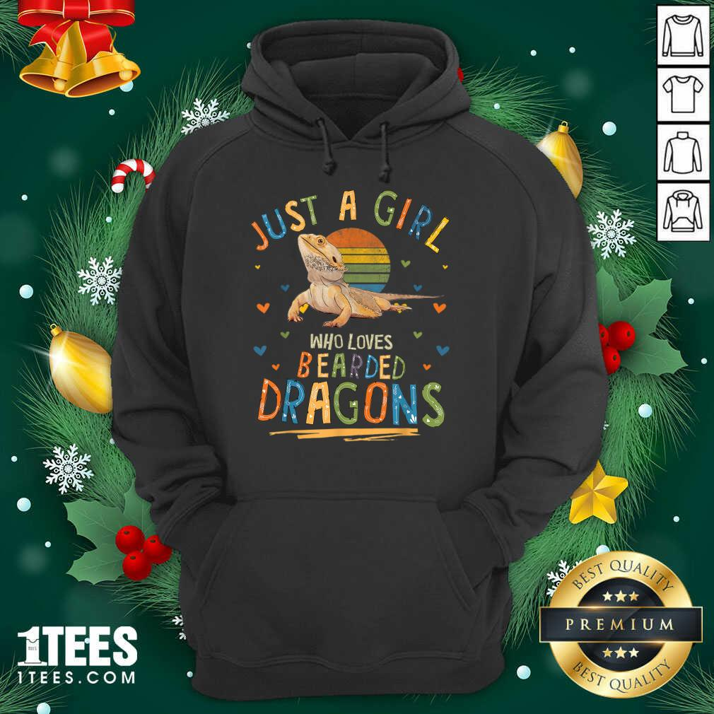 Just A Girl Who Loves Bearded Dragons Hoodie- Design By 1tees.com