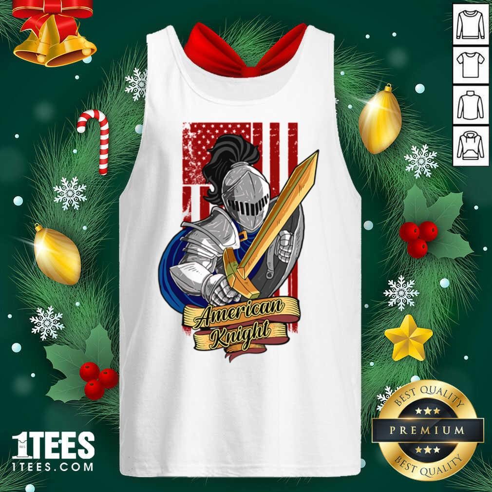 Knights Lover American Knight With Sword And Flag Tank Top- Design By 1tees.com