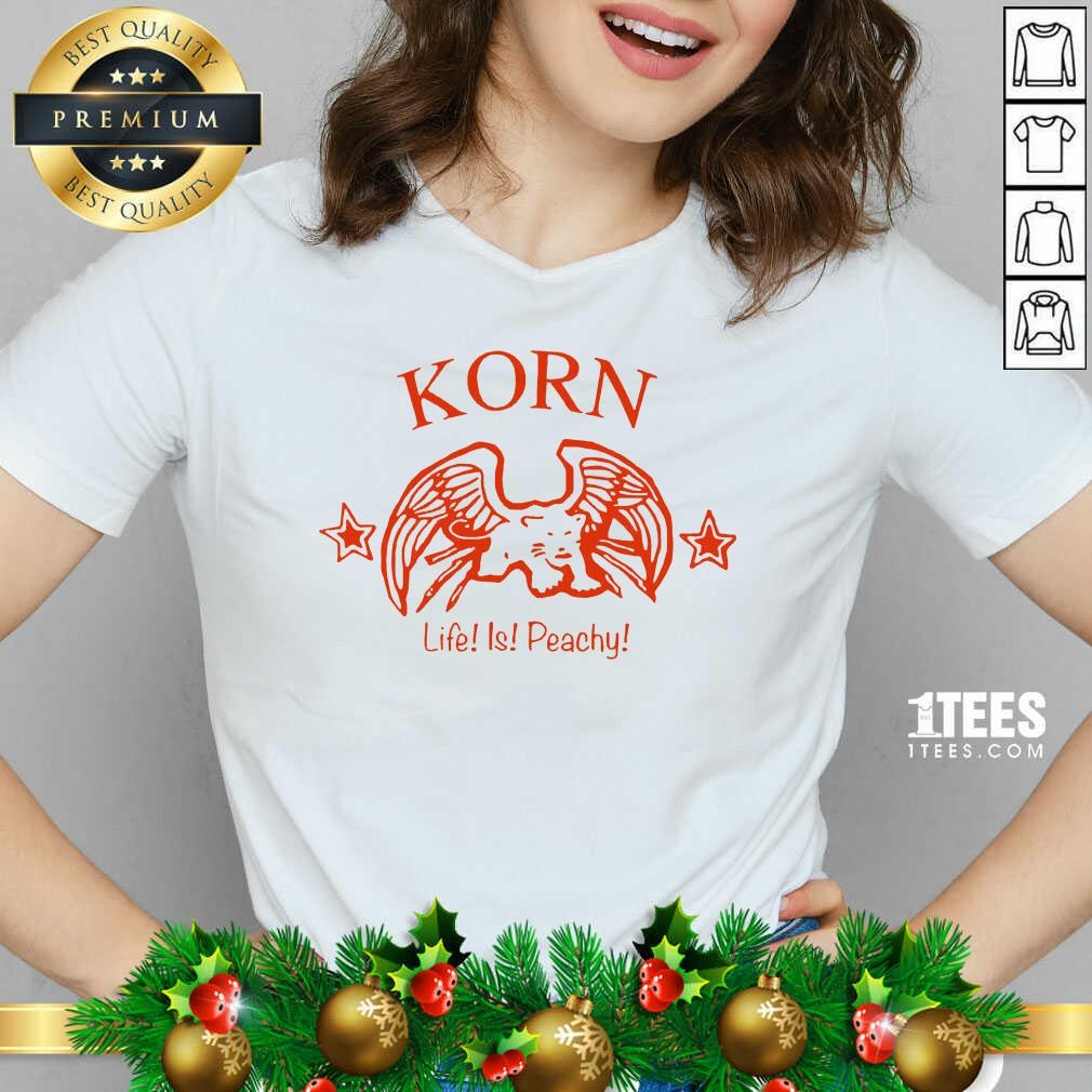 Korn Life Is Peachy V-neck- Design By 1tees.com