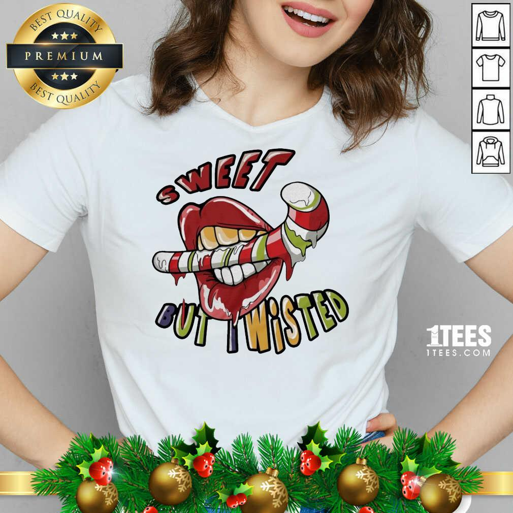 Mouth Sweeat But Wisted V-neck- Design By 1tees.com