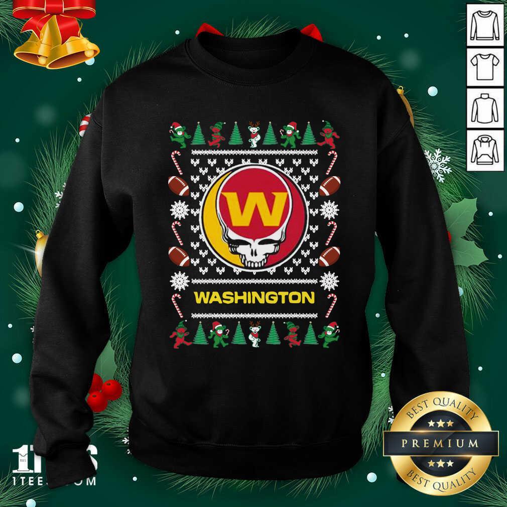 Washington Football Team Grateful Dead Ugly Christmas Sweatshirt- Design By 1tees.com