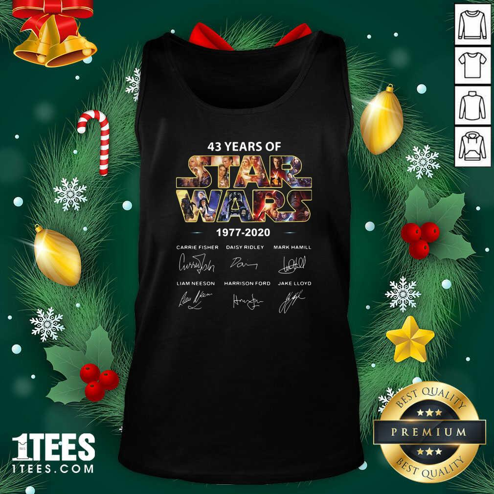 43 Years Of Star Wars 1977 2020 Signatures Tank top- Design By 1tees.com